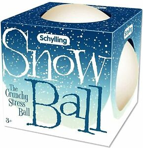 Schylling Snow Ball (NeeDoh) Crunchy, Squishy, Squeezy, Stretchy Stress Balls