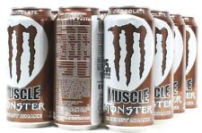 12 Monster Muscle Energy Shake Chocolate 25g Protein In Can Pump The Beast 15 oz