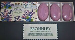 BRONNLEY LAVENDER WITH ALMOND OIL HAND SOAP - 3 x 100g - NEW BOXED & SEALED