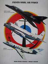 10/1982 PUB DASSAULT ATL GARDIAN SUPER ETENDARD MARINE NATIONALE AERONAVALE AD