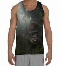 Gorilla in Forest Men's All Over Vest Tank Top - Animals Jungle Wild Forest