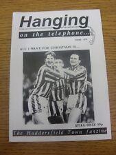 Fanzine de Dec-1991: Huddersfield Town-colgar en el teléfono: no 08. cualquier Faul