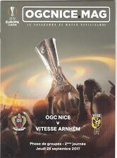 OGC Nice v Vitesse Arnhem 2017/18 (28 Sep) Europa League