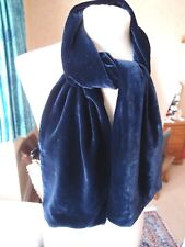 BOSS HUGO BOSS Unisex Velvet Cotton Navy Blue Scarf