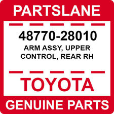 48770-28010 Toyota OEM Genuine ARM ASSY, UPPER CONTROL, REAR RH