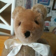 Vintage 1980s mohair Swiss Felpa Mutzli Teddy Bear Switzerland 14in EUC