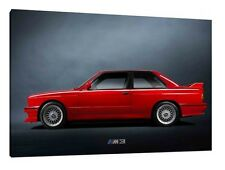 Classic BMW E30 M3 - 30x20 Inch Canvas - Framed Picture Print Wall Art Poster