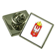 Gniezo City Poland Flag Lapel Pin Engraved Box