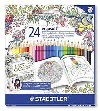 Staedtler 24 Ergo Soft - Triangular Coloured Pencils - Johanna Basford Edition
