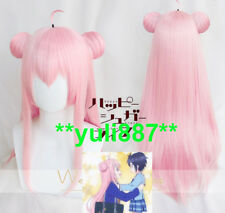 Happy Sugar Life Satou Matsuzaka Cosplay Costume Pink Hair Bun Straight Long Wig