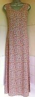 Laura Ashley True Vintage80's Linen/viscose Sleeveless Paisley Maxi Dress 12VGC
