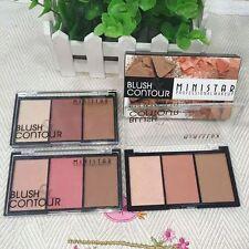 Matte Highlighter Contour Face Powder Palette Make Up Blush