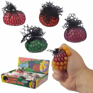 NEW Squeezable Water Ball Net Colourful Fidget Stress RelieveToy Novelty Spongy