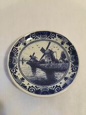 "Delft Holland ""Regina"" Small 4"" Decorative Wall Hanging Plate"