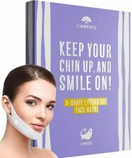 V Line Lifting Mask - Double Chin Reducer Strap - Face Lift Tape - Neck Strap