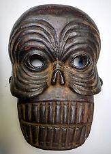 Exceptionnel ancien masque tibétain en bois Citipati Durdak Tibet 19e
