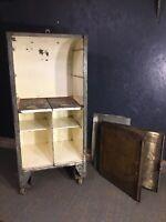 Vintage Garage Oil Dispenser Cabinet Automobilia