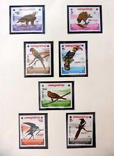 KAMPUCHEA Beautiful Birds Set of 7 U/M NB4487