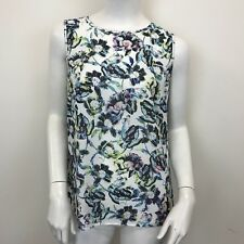 New Look Ladies Coloured Floral Button Back Sleeveless Blouse UK Size 10 Tall