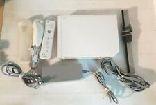 Nintendo Wii Gaming Console RVL-001 GameCube Compatible with Cords & Controller