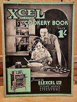 RARE Vintage Antique 1920's XCEL All British Cookery Book Elexcel LTD Liverpool