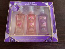 Body Fantasy 3 Pack Fragrance Body Spray 1.7 Fl Oz - Free Shipping