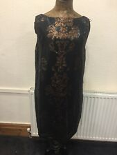 Sparkle Cocktail Shift Dress Size 16 Copper And Black Party Occasion