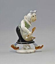 4347 ENS-Porzellan Figur Wilhelm Busch Witwe Bolte H15cm