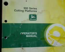 John Deere 900 series Harvester, Open Front,  Owners / operators Manual