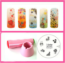 Konad Stamping Nail Art Multi New stamper And Scraper+ M84 Image Plate