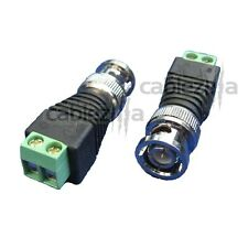 10x BNC Male PLUG CCTV Video Camera Screw Terminal Connector Cable Adapter Balun