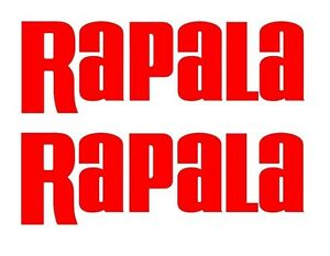 Rapala Stickers Decals Large set 2 Bass Catfish Trout Lure Swimbait Windshield
