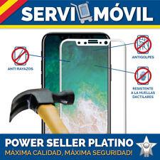 Protector Cristal Vidrio Templado para Apple Iphone X Borde Blanco ALTA CALIDAD