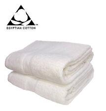 BAGNO foglio Asciugamano 2 x bianco 100% Cotone Egiziano Lusso Super Morbido straordinaria qualità