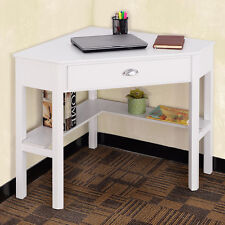 Corner Computer Desk Laptop Writing Table Wood Workstation Home Office Furniture