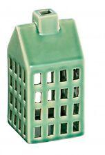 Windlicht Haus grün Teelichthalter Keramik 16 cm Lichthaus Tischlicht Gehlmann