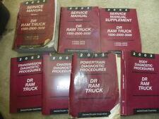 2003 Dodge Ram 1500 2500 3500 Shop Service Manuals