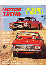 MOTOR TREND - US magazine - April 1963 - fascinating and very rare