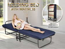 Guest Bed Folding Foldable Portable Single Mattress Camping Outdoor Fold bedding