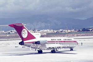 Dan Air London Boeing 727-46 G-BDAN, c1970s, Colour Slide, Aviation Aircraft