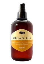 100% Pure Cold Pressed orgánicos marroquí Aceite De Argán Skin Cuerpo Cabello Uñas, 250 Ml