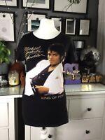 Michael Jackson Thriller T-Shirt Ladies S 10 12 Fitted Cotton black