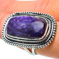 Huge Charoite 925 Sterling Silver Ring Size 7.5 Ana Co Jewelry R33698F