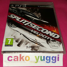 SPLIT SECOND VELOCITY SONY PS3 NEUF SOUS BLISTER VERSION 100% FRANCAISE