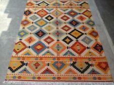 Flat-Weave Geometric 5x8 Kilim Afghan Oriental Area Rug Carpet 5' x 8'