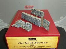 BRITAINS 17824 GATE + STONEWALL STRAIGHT SECTIONS TOY SOLDIER FIGURE DIORAMA SET