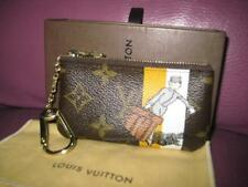 AUTH LOUIS VUITTON GROOM MONOGRAM YELLOW KEY CLES COIN WALLET LIMITED EDITION