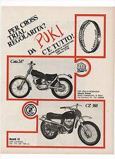 Pubblicità epoca 1971 MOTO MONTESA COTA 247 CZ 360 CROSS advert werbung reklame