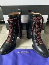 Aquazzura Hiker Lace Up Boots Size 36