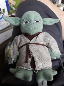 """1997 Kenner Star Wars Buddies YODA 7"""" Bean Bag Toy NEW with tags"""
